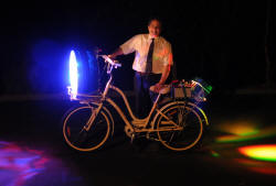 LED BIKE Purple front, orange rear