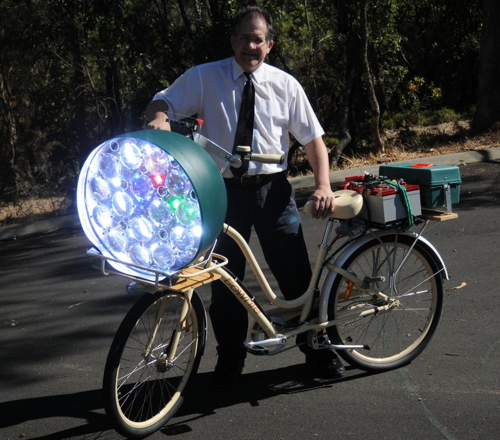 Как сделать на велосипеде фару