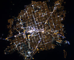 Vegas from ISS