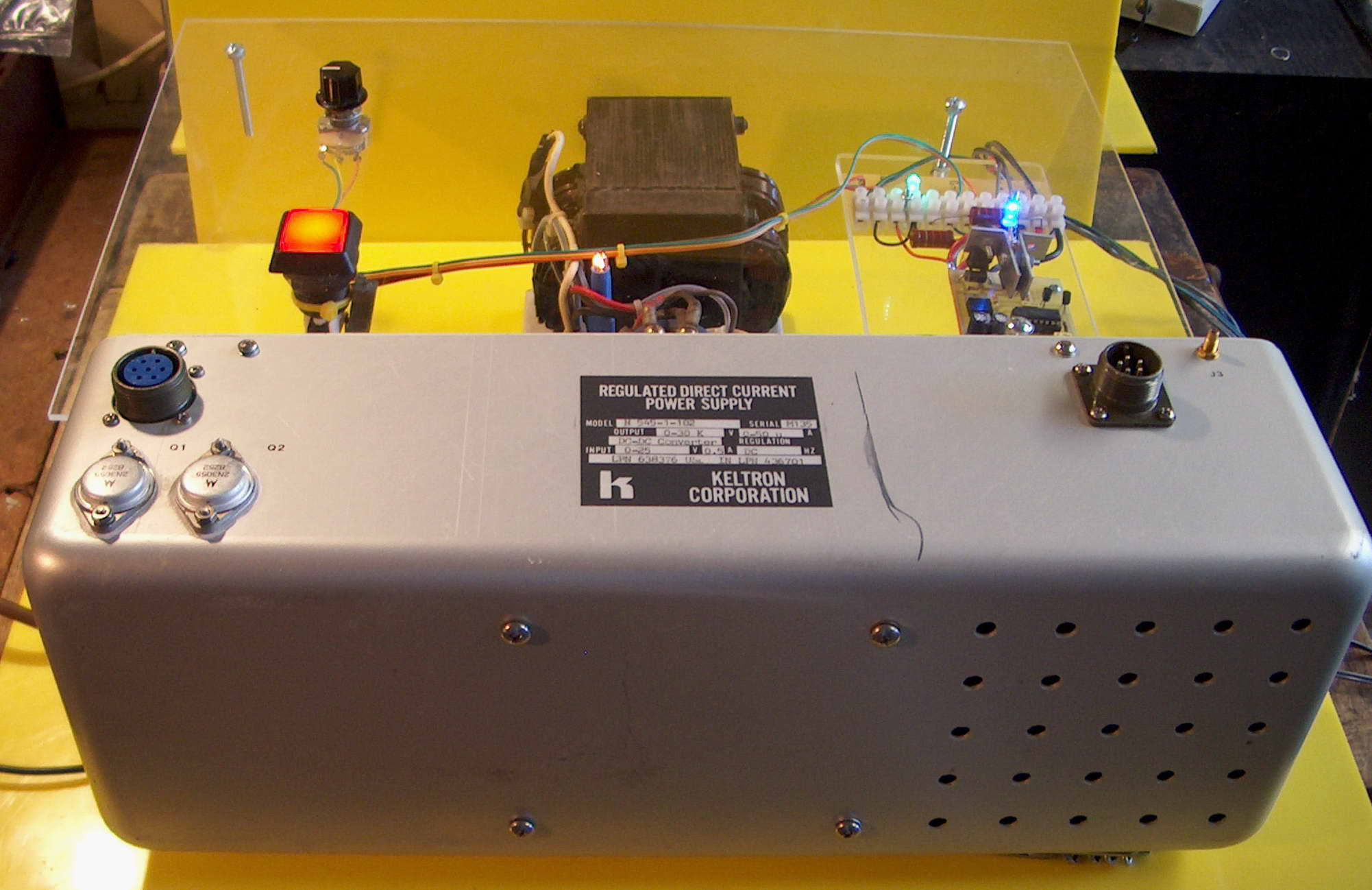 Lifters Kv High Voltage Dc Power Supply With Neat Trick For Switching Polarity Click To Enlarge This Is The Setup Using A 30