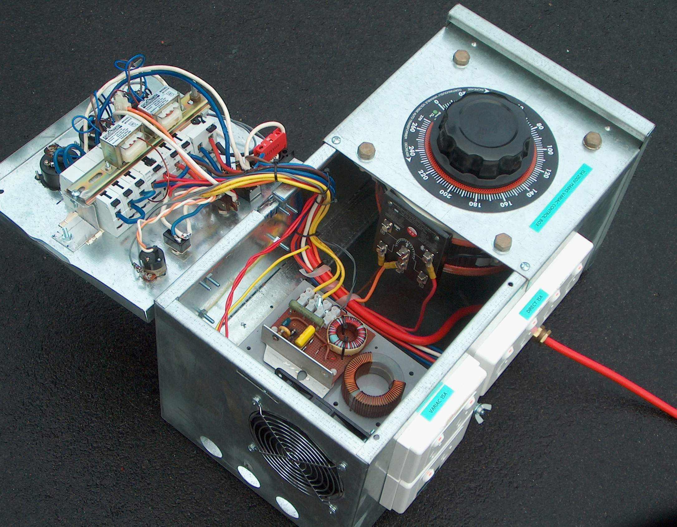 Tesla Coil 4 Inch Triac Circuit Http Wwwfaszlcom Triacshtm Click To Enlarge