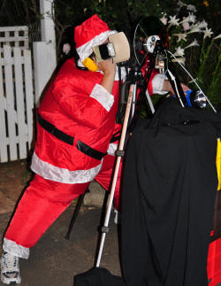 Santa adjusts the camera